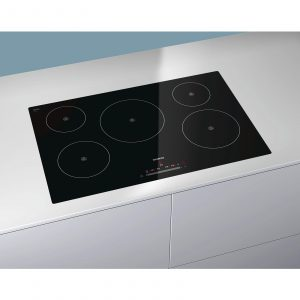 Siemens EH801FM17E Black 77cm Wide Touch Control Five Zone Induction Hob