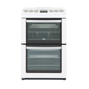 Zanussi ZCG552GWC 55cm Freestanding Double Oven Gas Cooker with Grill - White
