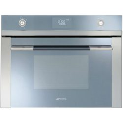 Smeg SF4120M Linea 60cm Compact Combination Microwave Oven Stainless Steel