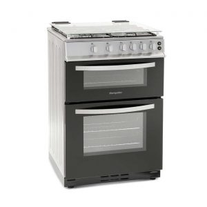 Montpellier MTG60LS 60cm Twin Cavity 4 Burner Gas Double Oven & Grill - Silver