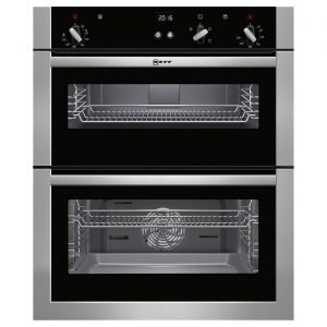 Neff U17S32N5GB Integrated Easy Clean Fan Assisted Double Oven - Stainless Steel