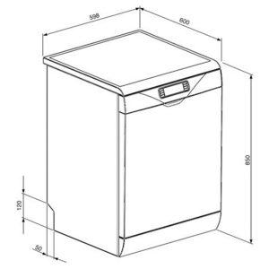 Smeg DC122B-1 60cm Black Full Size 12 Place Freestanding Dishwasher A+ Rating