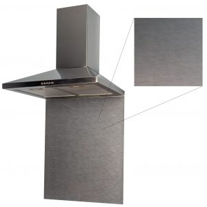 SIA SP60SI 60cm x 75cm Toughened Brushed Stainless Steel Effect Glass Splashback
