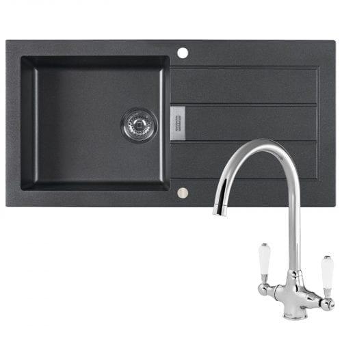 Franke Sirius SID651MA 1.5 Bowl Cream Reversible Kitchen Sink & Waste Kit