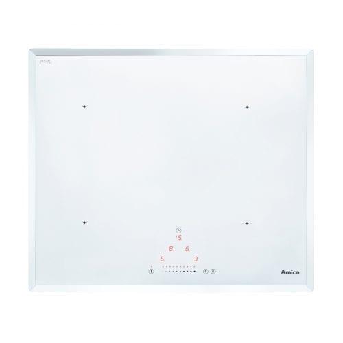 Amica PI6112WFT 60cm Bevelled Edge Four Zone Slider Control Induction Hob White