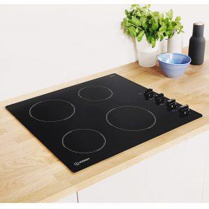 Indesit RI860C 58cm Rotary Control Four Zone Ceramic Hob - Black