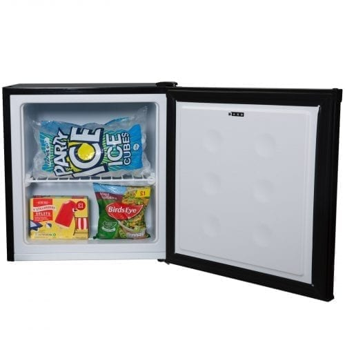 SIA TT02BL 38 Litre Black Counter Table Top Mini Freezer With A+ Energy Rating