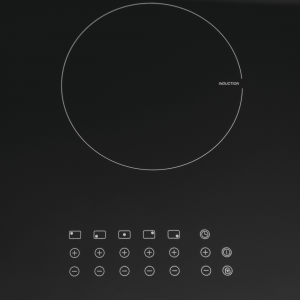 SIA INDH90BL 90cm Black Touch Control 5 Zone Induction Hob With Child lock