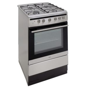Amica 608GG5MsXX 60cm Stainless Steel 60L Single Cavity Gas Cooker A Rated