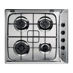 Indesit Advance PIM640ASIX Stainless Steel 60cm 4 Burner Gas Hob