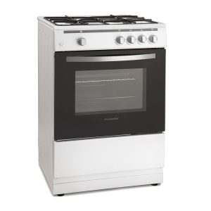 Montpellier MSG60W 60cm White Single Cavity Gas Cooker and 4 Zone Hob