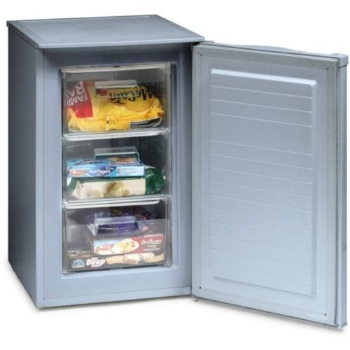 Ice King RZ83AP2SIL 50cm Silver Under Counter Freestanding Freezer A+ Rated