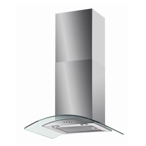 Baumatic BT6.3GL 60cm Stainless Steel Curved Glass Chimney Cooker Hood Fan