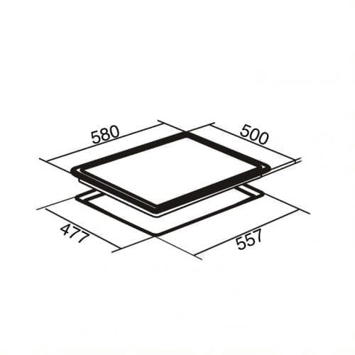 SIA SSG601SS 60cm 4 Burner Gas Hob In Stainless Steel With Cast Iron Pan Stands