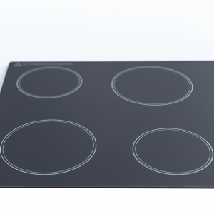 SIA CHK60BL 60cm 4 Zone Knob Control Frameless Electric Ceramic Hob In Black