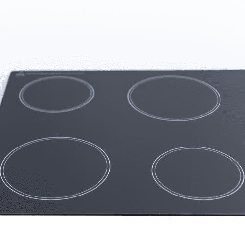 SIA CHK60BL 60cm 4 Zone Knob Control Frameless Electric Ceramic Hob In Black