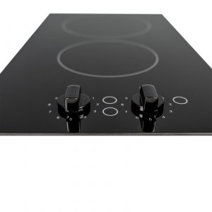 SIA CERH30BL 30cm 2 Burner Domino Ceramic Electric Hob In Black