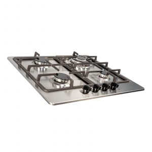 SIA SSG601SS 60cm Stainless Steel 4 Burner Gas Hob With Cast Iron Pan Stands