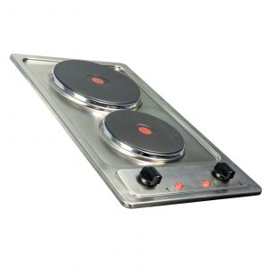 SIA PHP301SS 30cm Stainless Steel Compact 2 Zone Electric Solid Plate Domino Hob