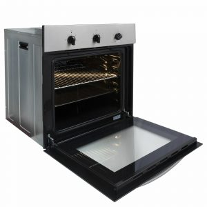 SIA 60cm True Fan Single Electric Oven, 4 Zone Plate Hob & Angled Cooker Hood