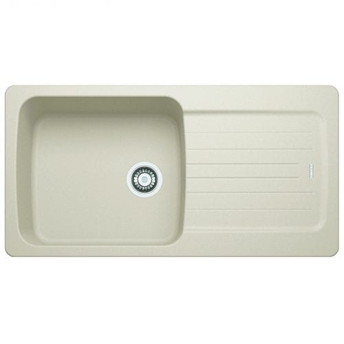 Franke Aveta 1.0 Bowl Cream Tectonite Reversible Kitchen Sink & Basket Waste Kit