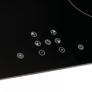 SIA INDH60BL 60cm Black 4 Zone Touch Control Induction Hob With Child Lock