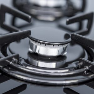 SIA GHG612BL 60cm Black 4 Burner Gas On Glass Hob With Enamel Pan Stands & FFD