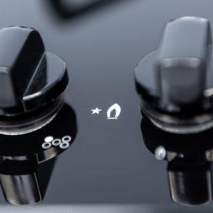 SIA GHG713BL 70cm Black 5 Burner Gas On Glass Hob With Enamel Pan Stands & FFD