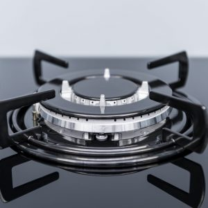 SIA GHG713BL 70cm Black 5 Burner Gas On Glass Hob With Enamel Pan Stands & FFD