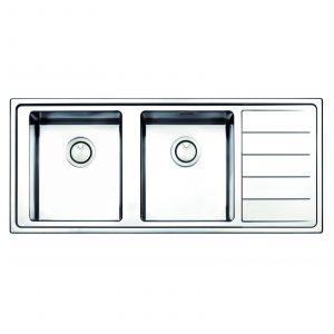 Clearwater LIP200R Linear Plus 2.0 Bowl Stainless Steel Elegant Kitchen Sink