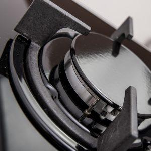 SIA GHG301BL 30cm Black 2 Burner Gas on Glass Domino Hob & Cast Iron Stands