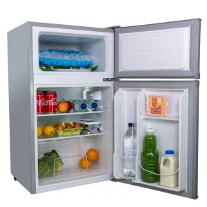 SIA UFF01SS 93L Silver/Grey Freestanding Under Counter Fridge Freezer A+ Energy