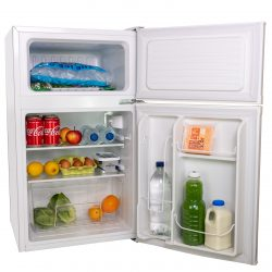 SIA UFF01WH 93L White Freestanding Under Counter 2 Door Fridge Freezer A+ Energy