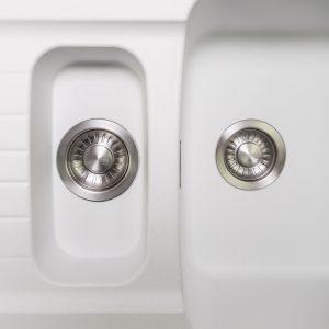 Franke Aveta 1.5 Bowl Ice White Tectonite Reversible Kitchen Sink And Waste Kit