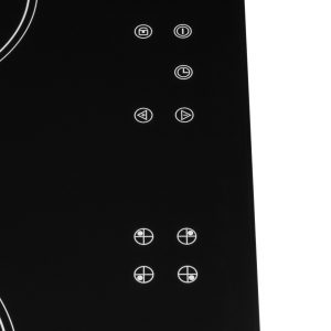 SIA CERH60BL 60cm 4 Zone Touch Control Electric Ceramic Hob In Black