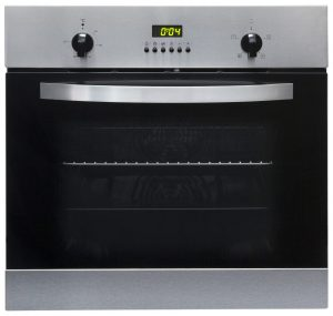 SIA 60cm Single Electric Oven, 4 Burner Gas Hob & Curved Glass Cooker Hood Fan
