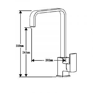 Astracast Sierra 1 Bowl Grey Kitchen Sink And Reginox Astoria U-shape Mixer Tap