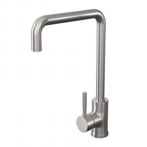 Reginox Cambridge Brushed Steel U-shape Single Lever Kitchen Sink Mixer Tap