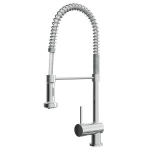 Reginox Durham Chrome Pull Out Spray Single Lever Kitchen Sink Mixer Tap