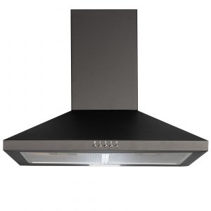 SIA CHL60BL 60cm Pyramid Chimney Cooker Hood Kitchen Extractor Fan In Black