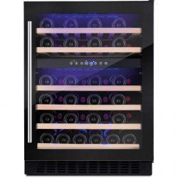 Amica AWC600BL 60cm Black Free Standing Under Counter LED 46 Bottle Wine Cooler