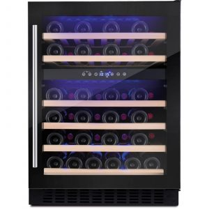 Amica AWC600BL 60cm Black Free Standing Under Counter LED 46 Bottle Wine Cooler