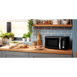 Beko MOC20200B 20L Black 800W Freestanding Retro Compact Microwave Oven