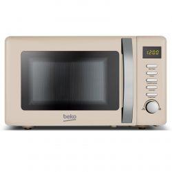 Beko MOC20200C 20L Cream 800W Freestanding Retro Compact Microwave Oven