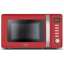 Beko MOC20200R 20L Red 800W Freestanding Retro Compact Microwave Oven