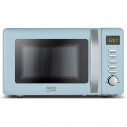 Beko MOC20200M 20L Blue 800W Freestanding Retro Compact Microwave Oven