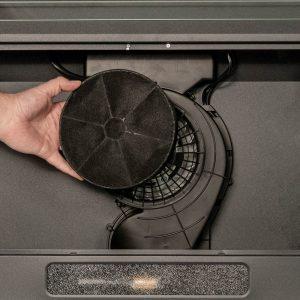 SIA VSR60BL 60cm Black Slim Visor Cooker Hood Kitchen Extractor Fan