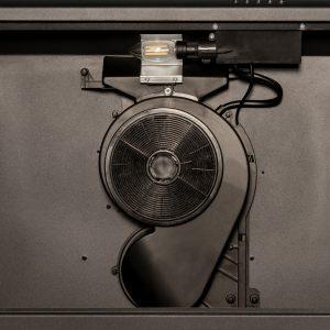 SIA STH60BL 60cm Black Slimline Visor Cooker Hood Kitchen Fan And Carbon Filter