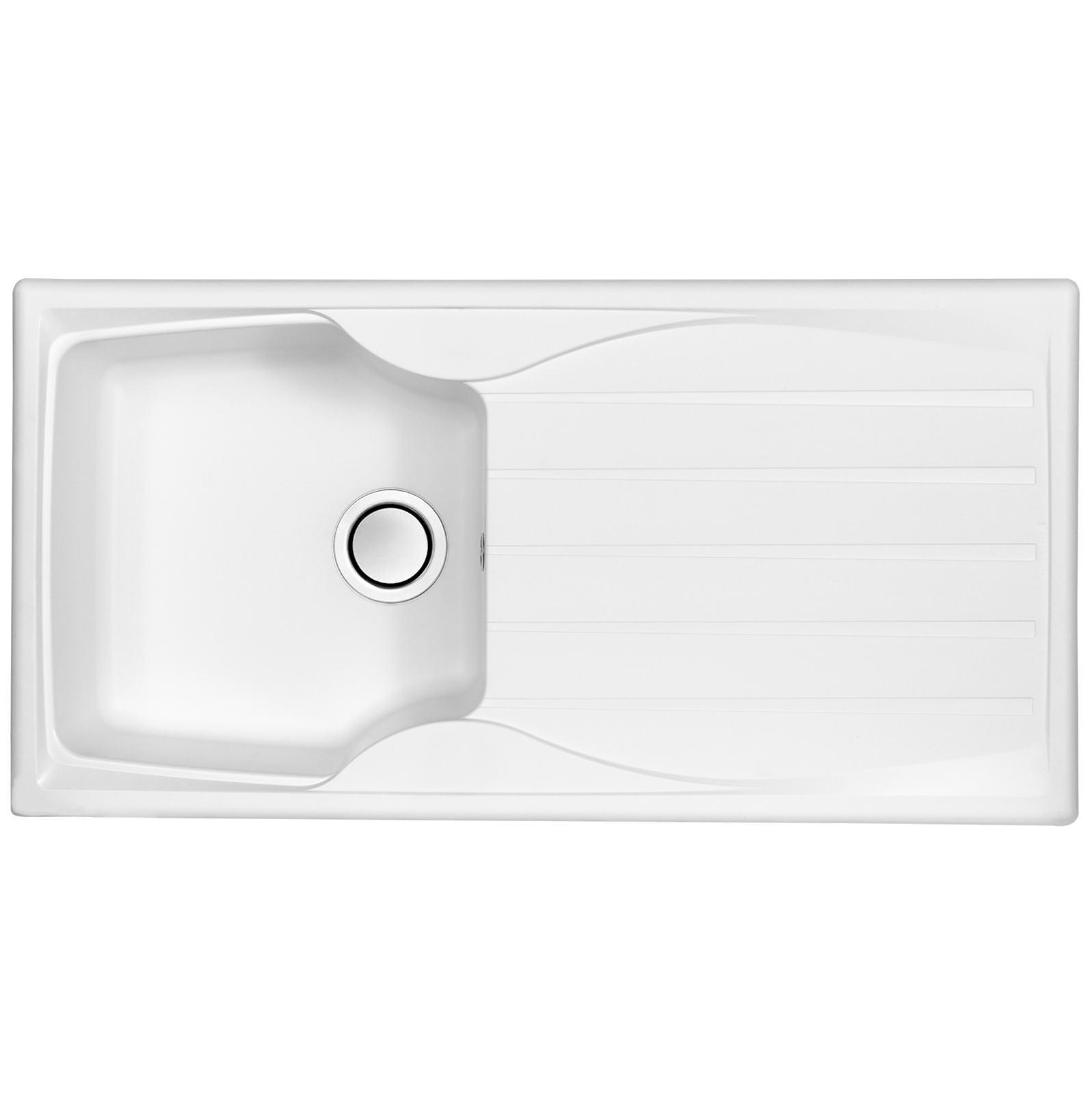 Astracast sierra 1 0 bowl teflite reversible white kitchen sink and waste kit at ship it appliances