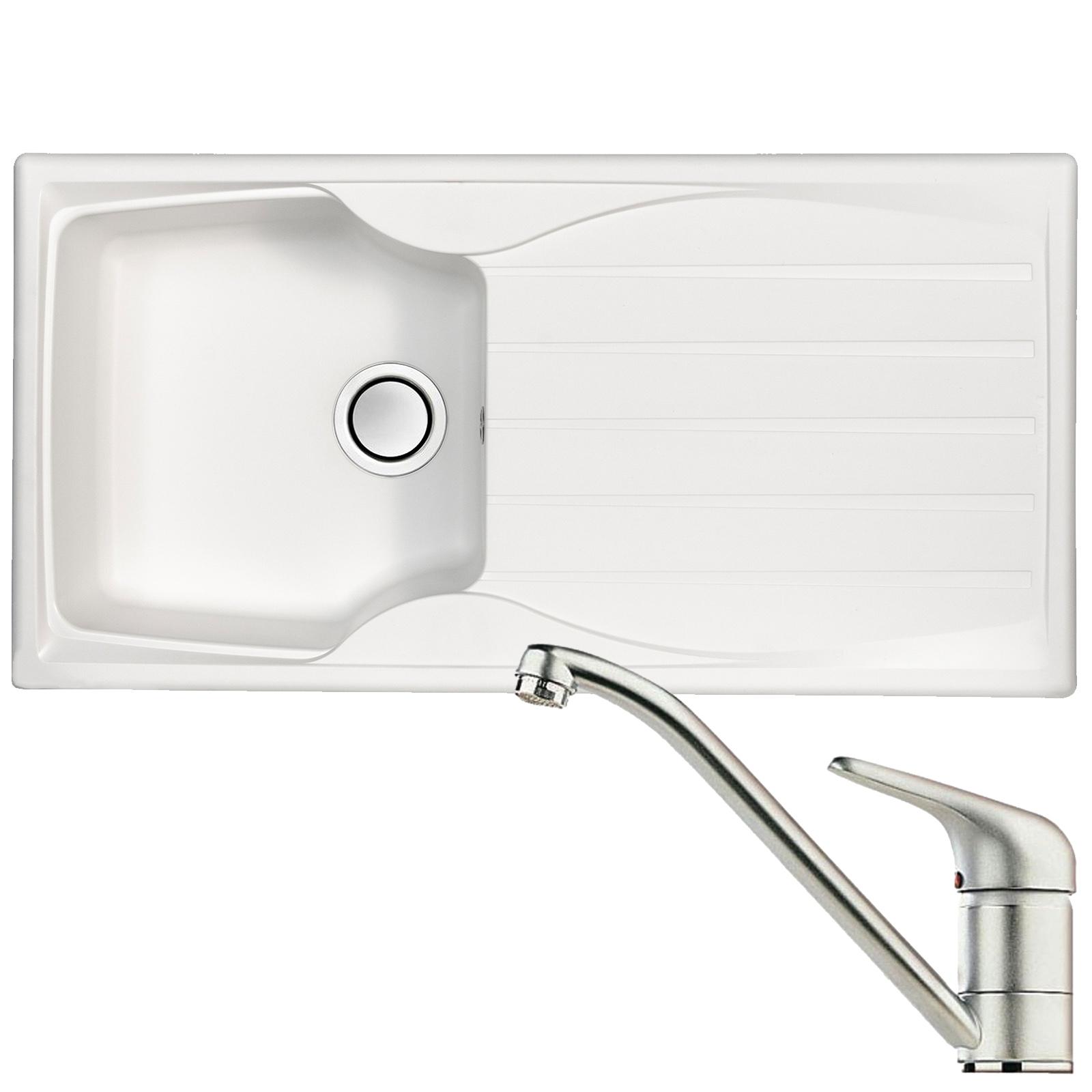 Astracast sierra 1 0 bowl white kitchen sink clearwater creta chrome mixer tap at ship it appliances